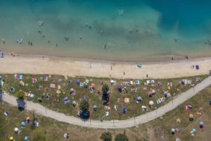 Aerial view of the aquapark near Moosburg - Klaus Leidorf Aerial Photography