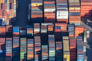 Aerial view of the container terminal in Munich-Riem - Klaus Leidorf Aerial Photography