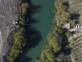 Aerial view of the Drinos River in Albania - Klaus Leidorf Aerial Photography