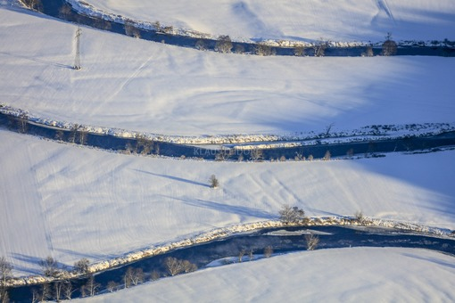 Aerial view of the course of the river Regen near Satzdorf - Klaus Leidorf Aerial Photography