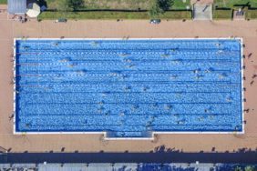 Aerial view of the Ingolstadt outdoor pool - Klaus Leidorf Aerial Photography