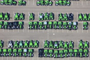 Aerial view of the premises of tractor manufacturer SAME Deutz-Fahr in Lauingen (Danube) - Klaus Leidorf Aerial Photography