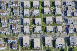 Aerial view of the Inge-Meysel-Strasse development area in the Augistin quarter of Ingolstadt - Klaus Leidorf Aerial Photography