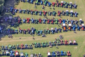 Aerial view of the oldtimer tractor meeting in Hinterskirchen - Klaus Leidorf Aerial Photography