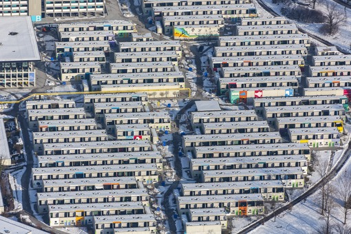 Aerial view of the Olympic Village in Munich - Klaus Leidorf Aerial Photography
