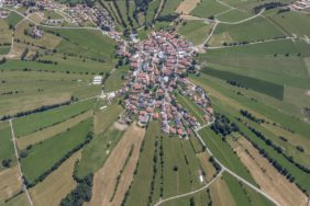 Aerial view of the village Kreuzberg in Freyung - Klaus Leidorf Aerial Photography