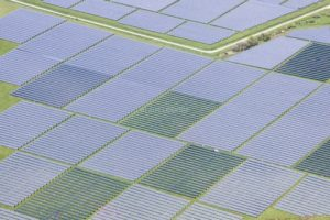 Aerial view of the PV solar field Muehlhausen - Klaus Leidorf Aerial Photography