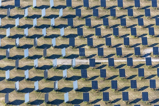 Aerial view of the solar park Waidhofen - Klaus Leidorf Aerial Photography