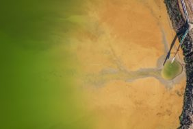 Aerial view of the sink of a gravel pit near Furth - Klaus Leidorf Aerial Photography