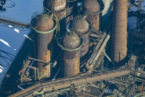 Aerial view of the Maxhütte-Haidhof steelworks - Klaus Leidorf Aerial Photography