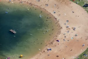 Aerial view of beach life in high summer - Klaus Leidorf Aerial Photography