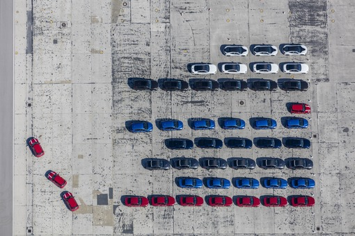Aerial view of the test area for BMW vehicles at Fürstenfeldbruck airfield - Klaus Leidorf Aerial Photography