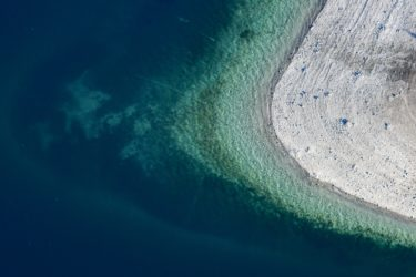 Aerial view of the shore of the Walchensee near Zwergern - Klaus Leidorf Aerial Photography