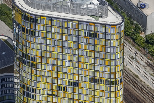 Aerial photograph of the ADAC administration building in Munich - Klaus Leidorf Aerial Photography