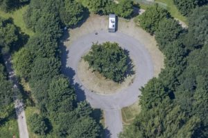 Aerial view of the camper van site in Freyung-Solla - Klaus Leidorf Aerial Photography