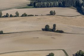 Aerial view of agricultural landscape in Bodenkirchen - Klaus Leidorf Aerial Photography