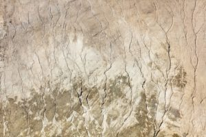 Aerial photograph of traces of erosion in the bentonite opencast mine near Grammelkam - Klaus Leidorf Aerial Photography