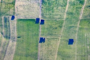 Aerial view of field barns - Klaus Leidorf Aerial Photography