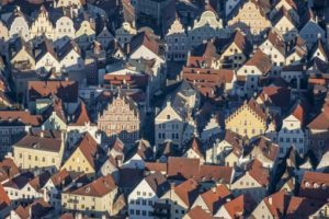 Aerial view of the city centre in Landshut - Klaus Leidorf Aerial Photography