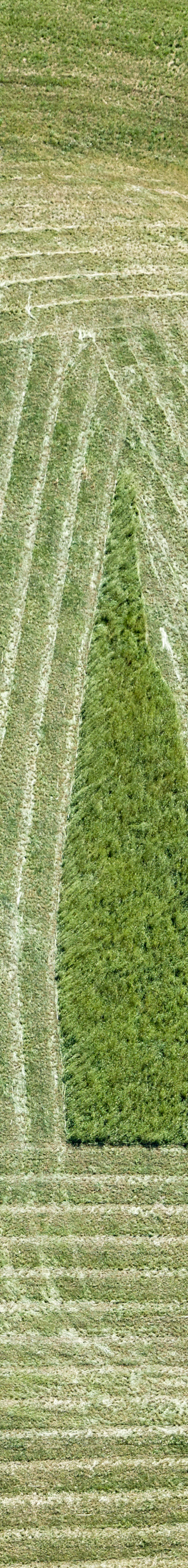 Aerial view of mowing work at Dinding - Klaus Leidorf Aerial Photography