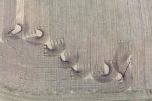 Aerial photograph of traces of the spreading of liquid manure on the field - Klaus Leidorf Aerial Photography
