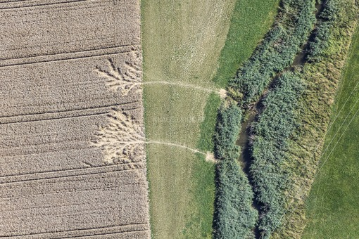 Aerial view of traces of the beaver - Klaus Leidorf Aerial Photography