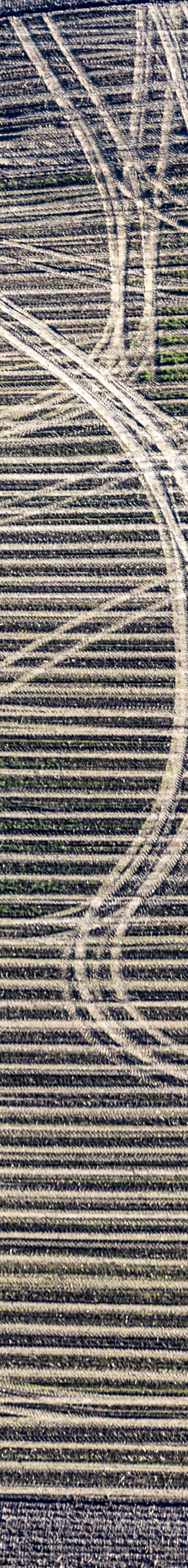 Aerial photograph of traces of the farmer on his field - Klaus Leidorf Aerial Photography