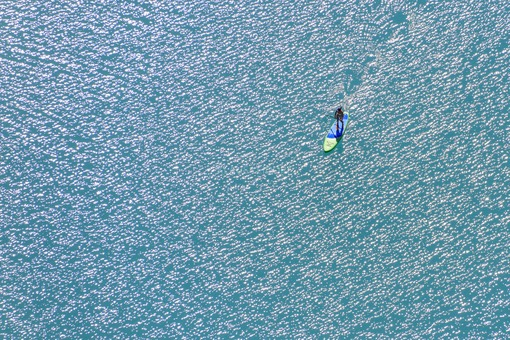 Aerial view of standing paddles - Klaus Leidorf Aerial Photography