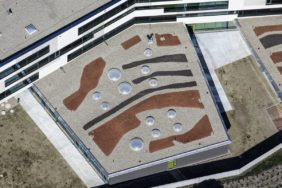 Aerial view from the roof of the grammar school in Ergolding, Landshut - Klaus Leidorf Aerial Photography