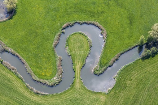 Aerial view of the river Vils near Rutting - Klaus Leidorf Aerial Photography