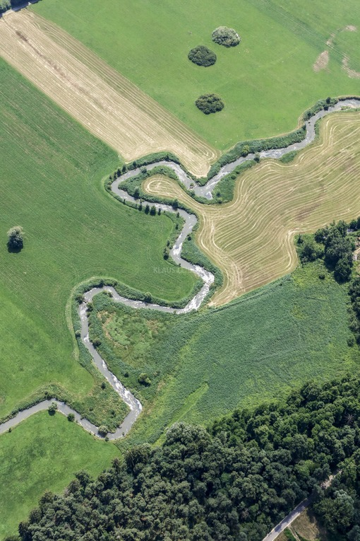 Aerial view of the course of the Abens river - Klaus Leidorf Aerial Photography