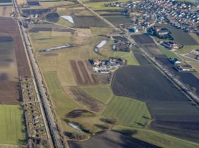 Aerial view of the wetlands near Landshut-Münchnerau - Klaus Leidorf Aerial Photography