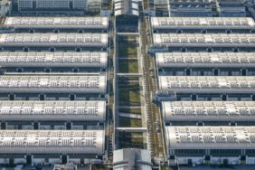 Aerial view of the halls of the fair in Munich-Riem - Klaus Leidorf Aerial Photography