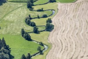 Aerial view of the curves of the Kleine Vils - Klaus Leidorf Aerial Photography