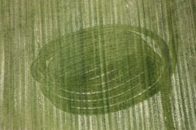 Aerial photograph of the traces of agricultural cultivation in a field - Klaus Leidorf Aerial Photography