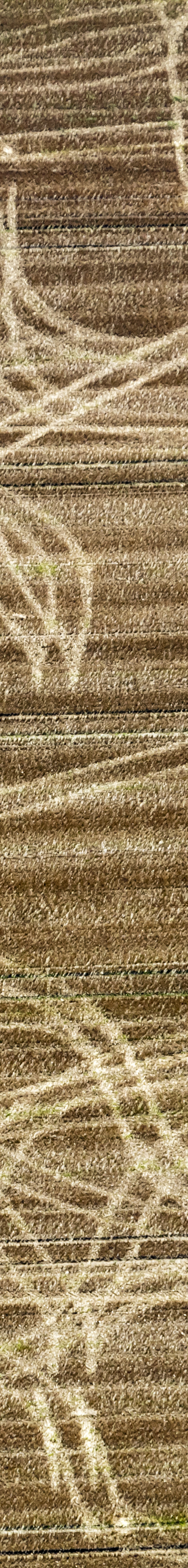 Aerial photograph of the tracks of a farmer's tractor on a stubble field - Klaus Leidorf Aerial Photography
