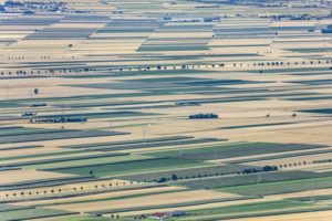 Aerial view of the agricultural landscape near Schwabmünchen in the Lechtal - Klaus Leidorf Aerial Photography