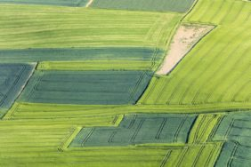 Aerial view of the agricultural landscape near Vilsheim - Klaus Leidorf Aerial Photography