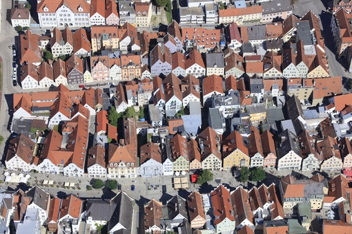 Aerial view of the old town in Ingolstadt - Klaus Leidorf Aerial Photography