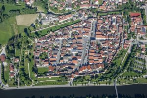 Aerial view of the old town of Berching - Klaus Leidorf Aerial Photography