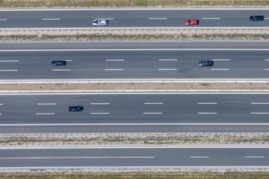 Aerial view of the A3 motorway near Biebelried - Klaus Leidorf Aerial Photography