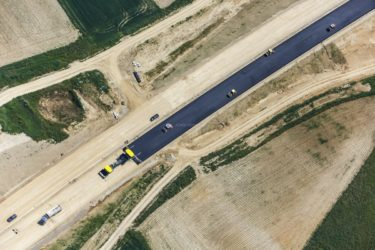 Aerial view of the construction site B15neu near Ergoldsbach - Klaus Leidorf Aerial Photography