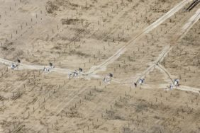 Aerial view of the construction site of the Weikersting solar park - Klaus Leidorf Aerial Photography