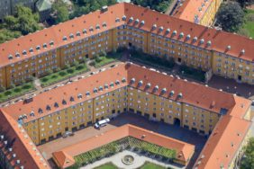 Aerial view of the Borstei in Munich-Moosach - Klaus Leidorf Aerial Photography