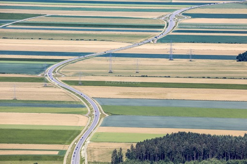 Aerial view of the federal road B148 near Sankt Peter am Hart in Upper Austria - Klaus Leidorf Aerial Photography