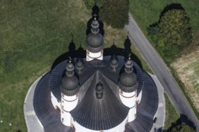 Aerial view of the Trinity Church Kappl near Waldsassen - Klaus Leidorf Aerial Photography