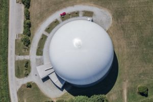 Aerial view of the earth station Raisting - Klaus Leidorf Aerial Photography