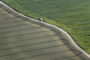 Aerial view of the field chapel near Moosburg-Aich - Klaus Leidorf Aerial Photography