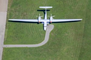 Aerial view of the Grob G850 at Mindelheim-Mattsies airfield - Klaus Leidorf Aerial Photography