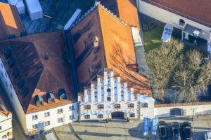 Aerial view of the ducal castle in Dingolfing - Klaus Leidorf Aerial Photography